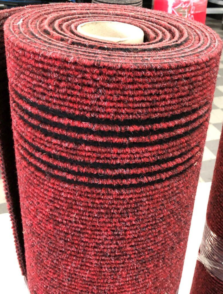 Passatoia cannettata rosso